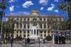 HÃ'tel de ville de戛纳 免版税图库摄影