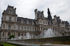 HÃ'tel de ville de Παρίσι  Παρίσι Cityhall Στοκ Φωτογραφία
