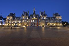 Hôtel DE Ville - Parijs royalty-vrije stock foto's