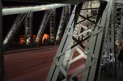 HÃd de g del ¡de SzabadsÃ, detalle del puente de la libertad, Budapest imagen de archivo