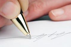 Häfte med pennan Royaltyfria Foton