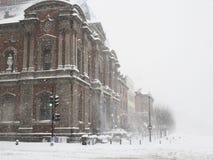 häftig snöstorm Arkivfoto