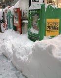 häftig snöstorm 2010 december New York Royaltyfri Bild