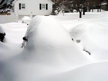 häftig snöstorm arkivbild