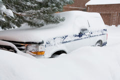 häftig snöstormvinter arkivfoton