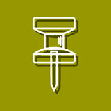 Häftstiftsymbol Fotografering för Bildbyråer