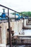 Hähne für den Sauerstoff, der in das Abwasser liefert Lizenzfreie Stockbilder