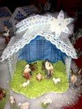 Häkelarbeit-Weihnachtsgeburt christi lizenzfreie stockbilder