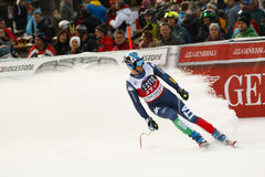 HÄL Werner i FIS alpina Ski World Cup - 3rd MÄNS SUPER-G Arkivbild