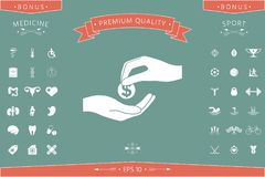 Häleripengarsymbol royaltyfri illustrationer