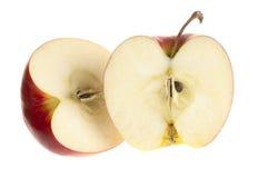 Hälft av äpplet Arkivfoto
