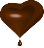 Hälft av chokladhjärta vektor illustrationer