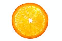 hälft isolerad orange Arkivfoto