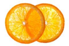 hälft isolerad orange Royaltyfri Foto