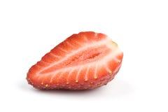 Hälfte der Erdbeere Lizenzfreies Stockbild