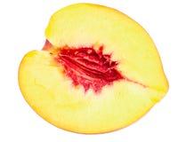 Hälfte der Nektarinefrucht Lizenzfreie Stockfotografie
