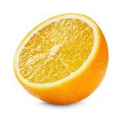 Hälfte der Orange lokalisiert auf dem weißen Hintergrund lizenzfreie stockfotos