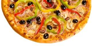 Hälfte der Pizza Lizenzfreies Stockfoto