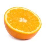 Hälfte der saftigen Orange Lizenzfreie Stockfotografie