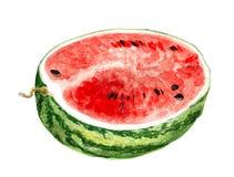 Hälfte der Wassermelone Stockfotos