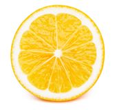 Hälfte der Zitrone lokalisiert Lizenzfreies Stockfoto