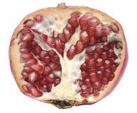 Hälfte des Granatapfels Stockbild