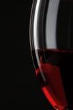 Hälfte des Rotweinglases Lizenzfreie Stockfotografie