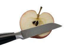 Hälfte ein Apfel Lizenzfreie Stockfotos