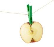 Hälfte ein Apfel stockfotos