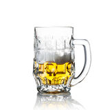 Hälfte ein Glas Bier Stockbild