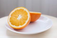 Hälfte eine Orange Lizenzfreies Stockfoto