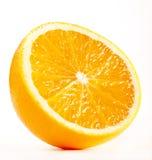 Hälfte einer frischen Orange Stockbild