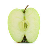 Hälfte eines grünen Apfels Lizenzfreies Stockbild