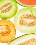 Hälfte geschnittene Melonen IV Stockbilder