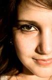 Hälfte-Gesicht Portrait Stockfotos