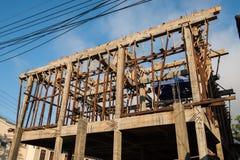 Hälfte konstruiertes Gebäude Lizenzfreies Stockfoto