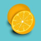 Hälfte von Orangen Lizenzfreie Stockbilder