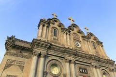 Hälfte von wuxingjie Kirche von Xian-Stadt, Porzellan Adobe RGB Stockfotos