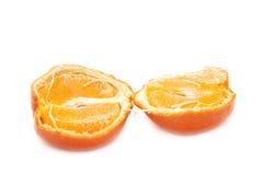 Hälften der Mandarine Stockbild