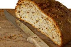 Hälften des Brotes Stockfotos