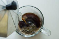 hälla för kaffe Fotografering för Bildbyråer