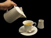 hällande tea för hand Arkivbild