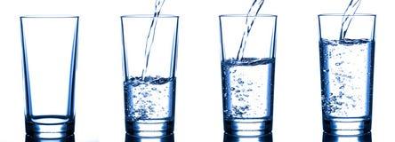 hällande vatten för exponeringsglas Arkivfoton