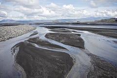 hällande vatten för hav royaltyfri fotografi