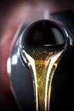 Hälld beeing för motorolja royaltyfri fotografi