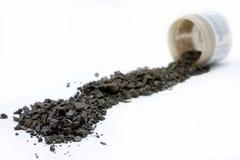 hälld rad för aloekristaller detox Arkivfoto