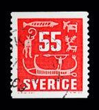 Hällristningar serie, circa 1957 Royaltyfria Foton