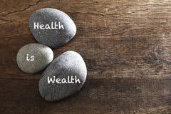 Hälsa är rikedom Arkivbilder