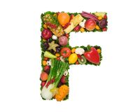 hälsa för alfabet f Arkivbild
