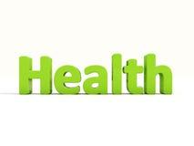 hälsa för ord 3d Arkivbild